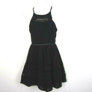 Sam Edelman Fit Flare Bare Shoulder Dress 2 Black